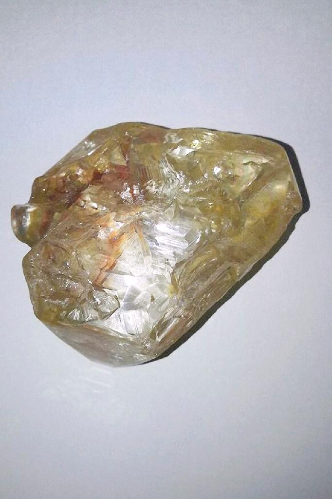 A 706-carat diamond is pictured on March 16, 2017 in Freetown, Sierra Leone
