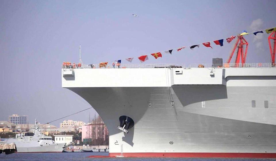 The Type 075 is a new generation of amphibious assault vessel weighing 40,000 tonnes. Photo: Handout