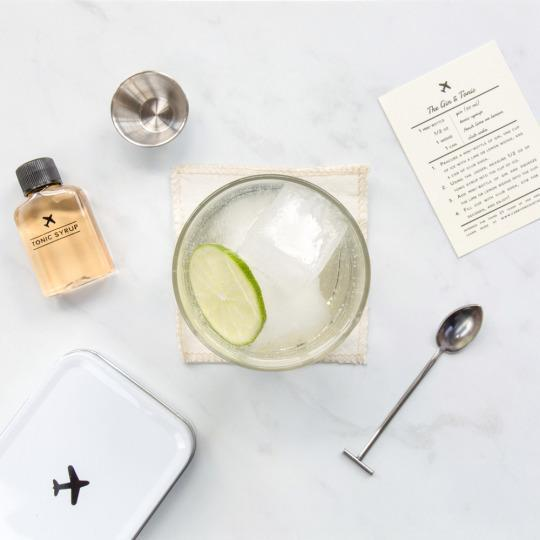"<p>Upgrade your booze and mix your own <a href=""http://wandpdesign.com/pages/carryoncocktailkit"" rel=""nofollow noopener"" target=""_blank"" data-ylk=""slk:Old Fashioned, gin and tonic, or Moscow mule"" class=""link rapid-noclick-resp"">Old Fashioned, gin and tonic, or Moscow mule</a> right in your airplane seat with this portable drink mix kit. Each includes a recipe card, .5 ounce jigger, bar spoon, and linen coaster. The Old Fashioned includes bitters and cane sugar; the Moscow Mule features small-batch ginger syrup; the gin and tonic offers a craft tonic.</p>"