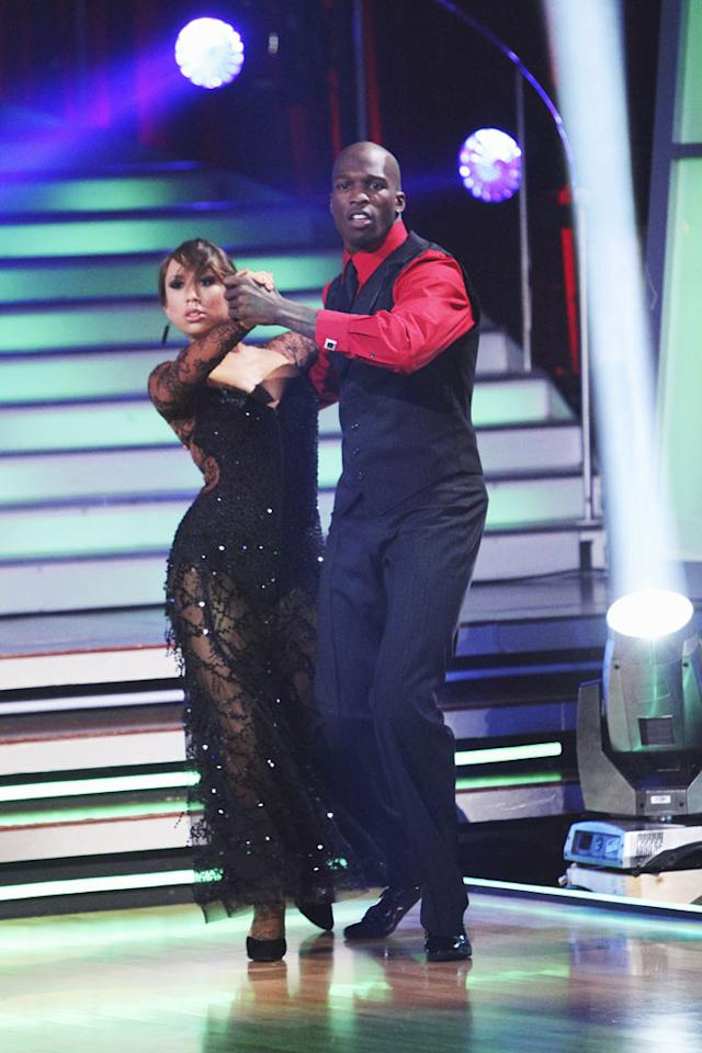 """Chad Ochocinco and Cheryl Burke perform on """"Dancing with the Stars."""""""