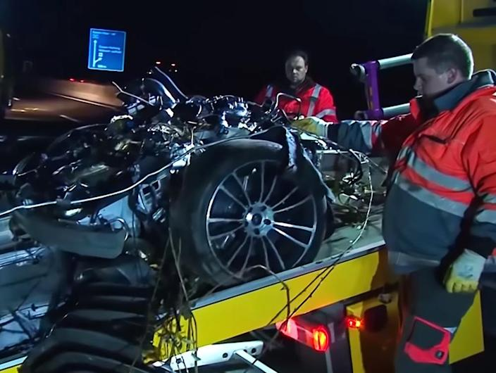 An investigation is being carried out into what caused the crash (Picture: Central European News)
