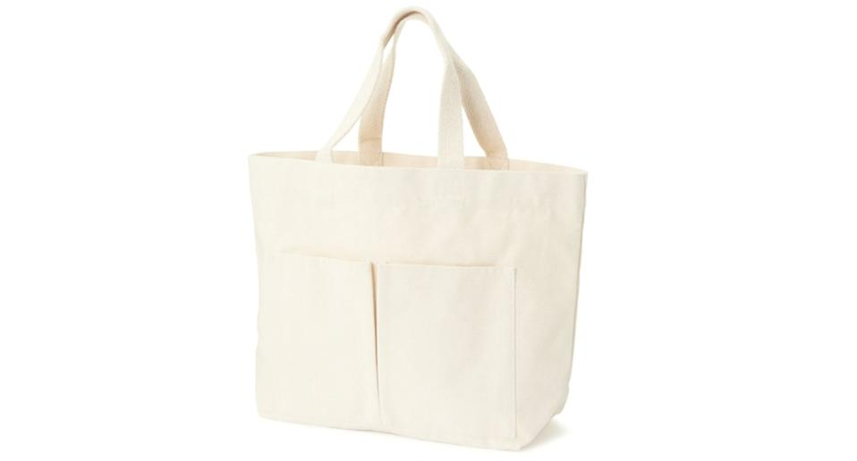 """This spacious tote bag is surprisingly strong and even has two handy pockets for stashing away essentials. Give to your mum as a practical, standalone gift or use it to put your mother's other presents inside and do away with non-recyclable gift wrap. <a href=""""https://fave.co/2US32s2"""" rel=""""nofollow noopener"""" target=""""_blank"""" data-ylk=""""slk:Shop now."""" class=""""link rapid-noclick-resp""""><em><strong>Shop now.</strong></em></a>"""