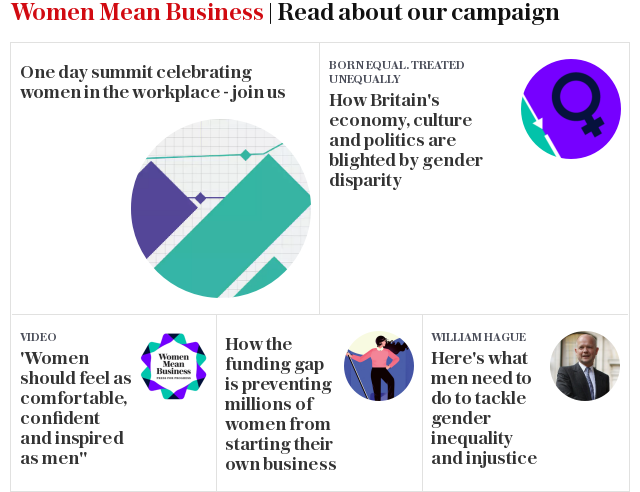 Women Mean Business | Read about our campaign