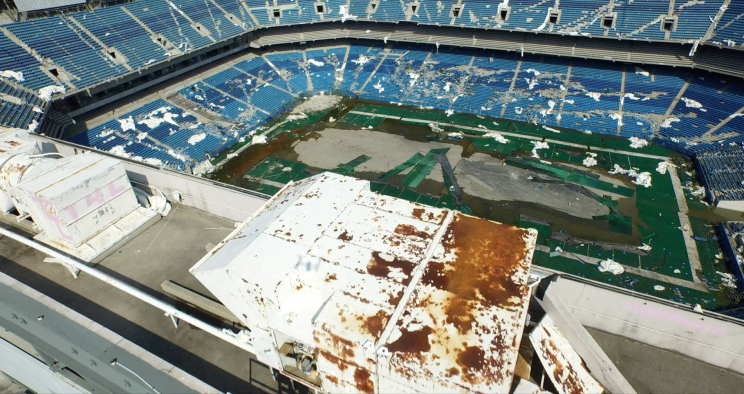 The remains of the Silverdome. (Courtesy Silverdome Films LLC)