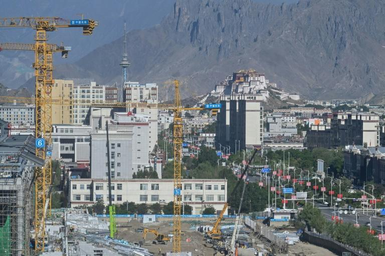 Real estate listings show around three dozen new developments currently selling homes in Lhasa