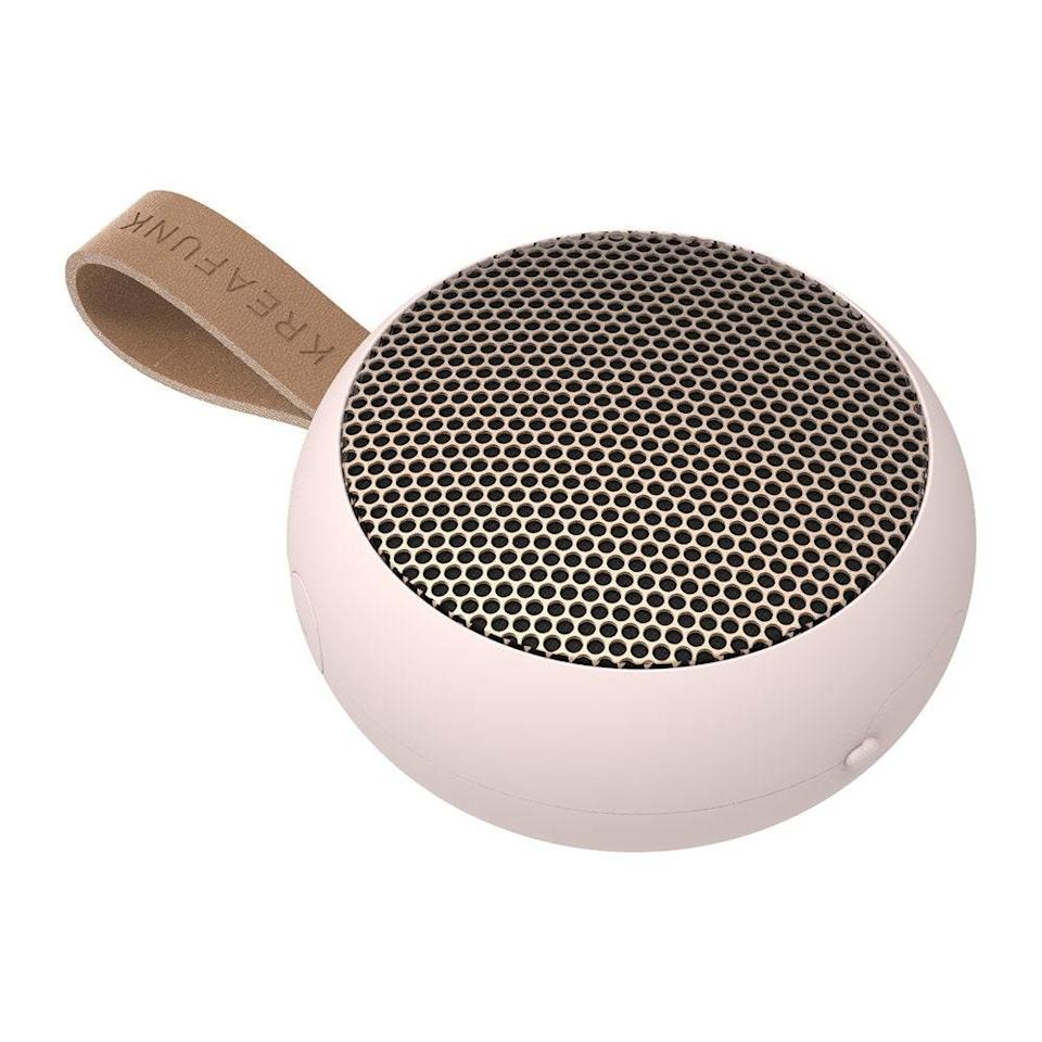 """A bluetooth speaker is an entertaining essential. Gift this sleek number to your extroverted friend who can't wait to throw a party once the pandemic has passed. $42, Verishop. <a href=""""https://www.verishop.com/kreafunk/speakers/ago-bluetooth-speaker/p4162547908631?variant_id=30257620549655"""" rel=""""nofollow noopener"""" target=""""_blank"""" data-ylk=""""slk:Get it now!"""" class=""""link rapid-noclick-resp"""">Get it now!</a>"""