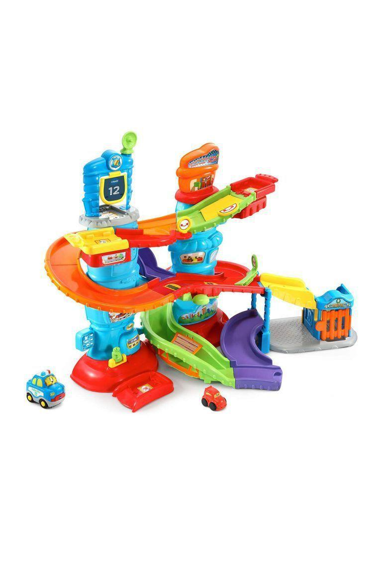 """<p><strong>VTech </strong></p><p>amazon.com</p><p><strong>$33.49</strong></p><p><a href=""""http://www.amazon.com/dp/B07B76RN9L/?tag=syn-yahoo-20&ascsubtag=%5Bartid%7C10055.g.5152%5Bsrc%7Cyahoo-us"""" rel=""""nofollow noopener"""" target=""""_blank"""" data-ylk=""""slk:Shop Now"""" class=""""link rapid-noclick-resp"""">Shop Now</a></p><p>Another <a href=""""https://www.goodhousekeeping.com/holidays/christmas-ideas/g23614294/best-toys-2019/?slide=3"""" rel=""""nofollow noopener"""" target=""""_blank"""" data-ylk=""""slk:2018 Toy Award Winner"""" class=""""link rapid-noclick-resp"""">2018 Toy Award Winner</a>, this playset features a police car and a getaway car that race around on the colorful track. Less-than-gentle <strong>toddlers were entertained by the lights, noises, and sounds the cars make</strong> as they travel along the sturdy tracks. </p>"""