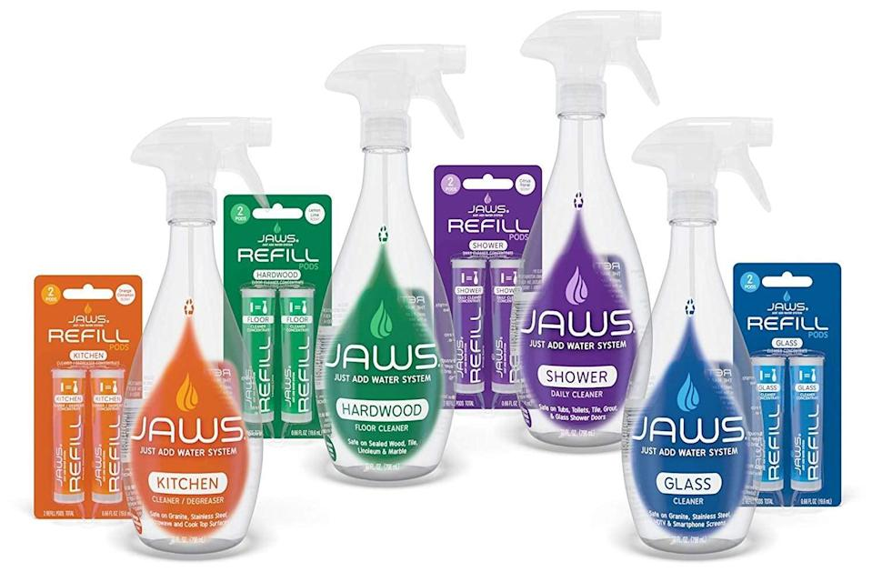 <p>Use the eco-friendly <span>Jaws Home Cleaning Kit </span> ($27) as a kitchen, shower, or hard floor cleaner.</p>