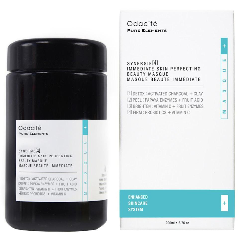 """<p>This powder is a multi-mask in a jar. It has clay and activated charcoal to refine and clear your pores. Also in the equation? Enzymes and fruit acids, which exfoliate dead skin cells so you can get your glow on. The vitamin C helps fades hyperpigmentation and prevents brown spots. Talk about well-rounded! </p> <p>$59 