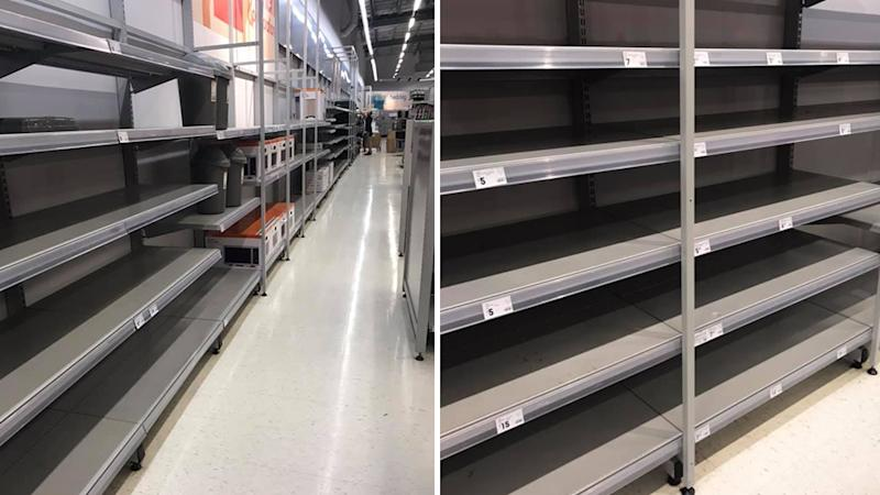 empty kmart shelves