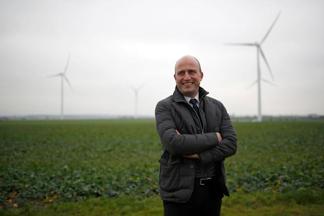 FILE PHOTO: Xavier Caitucoli, Chairman and Chief Executive Officer of Direct Energie, poses during a visit at a wind farm in Juille near Le Mans, France, January 8, 2018. REUTERS/Stephane Mahe/File Photo