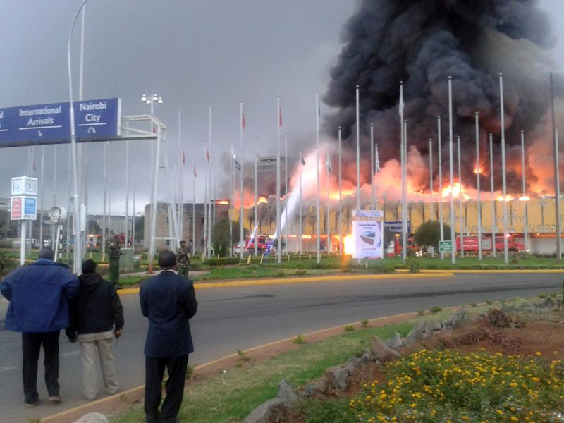 Inferno roars through E. Africa's largest airport