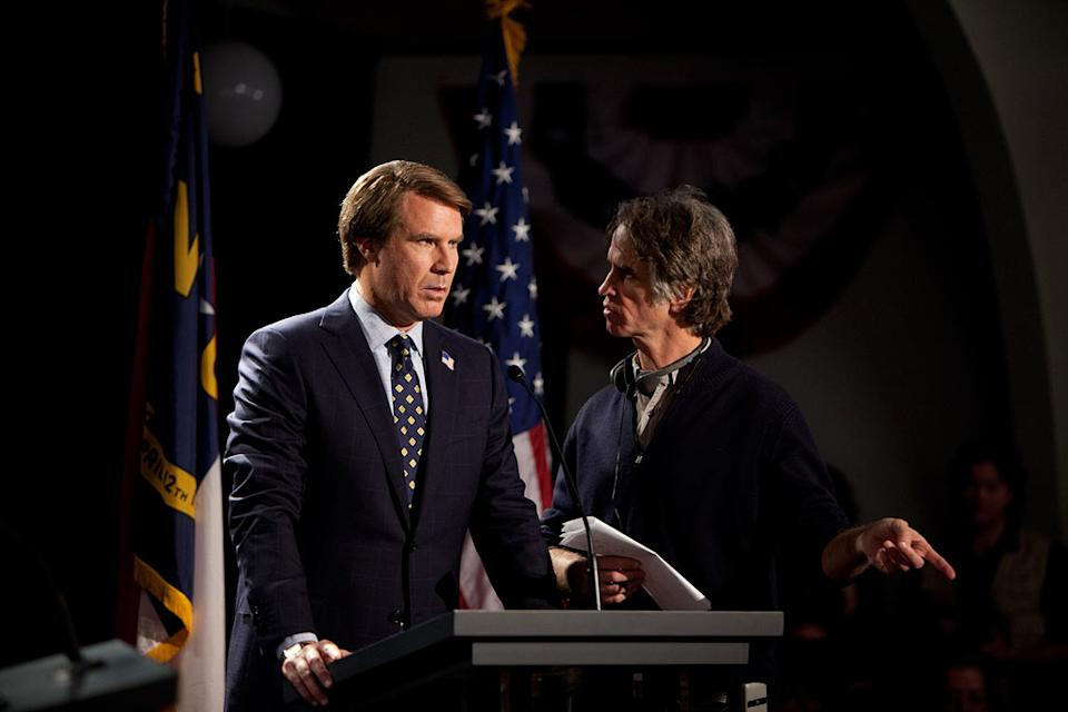 """Will Ferrell and Jay Roach on the set of Warner Bros. Pictures' """"The Campaign"""" - 2012"""