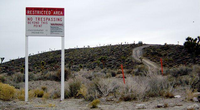Photography is prohibited: The edge of Area 51.