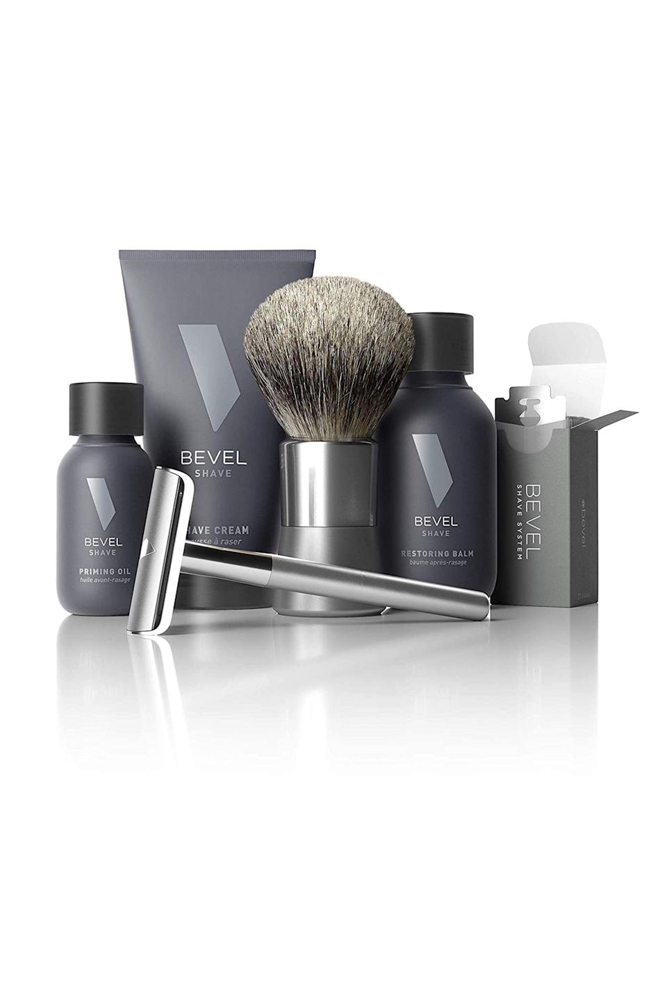 """<p><strong>Get Bevel </strong></p><p>getbevel.com</p><p><strong>$89.95</strong></p><p><a href=""""https://getbevel.com/shave-kit?featured=true&list=shave"""" rel=""""nofollow noopener"""" target=""""_blank"""" data-ylk=""""slk:Shop Now"""" class=""""link rapid-noclick-resp"""">Shop Now</a></p><p>Shaving is something most of us have to do every few weeks and Bevel makes it easy with their monthly shave subscription. The kit comes with priming oil, shaving stick with blades, and shaving cream. Though the products are geared towards men, ladies are sure to get a <a href=""""https://www.elle.com/beauty/makeup-skin-care/a28848947/hair-removal-expert-tips-products-pole-dancers/"""" rel=""""nofollow noopener"""" target=""""_blank"""" data-ylk=""""slk:smooth"""" class=""""link rapid-noclick-resp"""">smooth</a> shave from this kit too.</p>"""