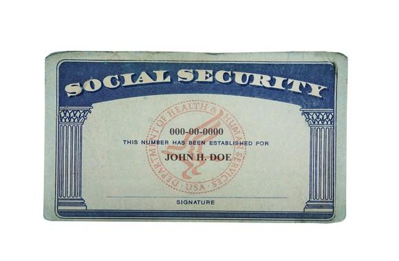 A Social Security card.