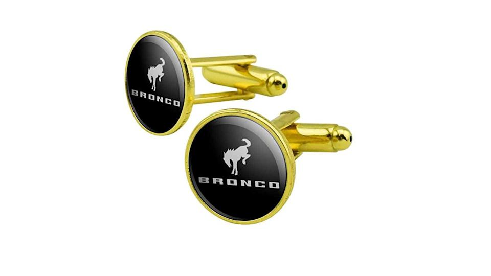 "<p>Honestly, we're not sure if we <em>really</em> want these or if we're just enamored with the sheer randomness of it. Who dresses up for a special event with gold-colored Bronco cufflinks? At $10.99 as of this posting they certainly aren't real gold, but a devoted Bronco fan might covet them as precious metal none the less.</p>   <ul><li><a href=""https://www.motor1.com/news/431995/watch-2021-ford-bronco-debut-july-13/?utm_campaign=yahoo-feed"" rel=""nofollow noopener"" target=""_blank"" data-ylk=""slk:How To Watch The 2021 Ford Bronco Debut On July 13"" class=""link rapid-noclick-resp"">How To Watch The 2021 Ford Bronco Debut On July 13</a></li><br><li><a href=""https://www.motor1.com/news/432769/2021-ford-bronco-spy-shots-interior/?utm_campaign=yahoo-feed"" rel=""nofollow noopener"" target=""_blank"" data-ylk=""slk:2021 Ford Bronco Spy Shots Reveal Off-Roader's Interior"" class=""link rapid-noclick-resp"">2021 Ford Bronco Spy Shots Reveal Off-Roader's Interior</a></li><br></ul>"