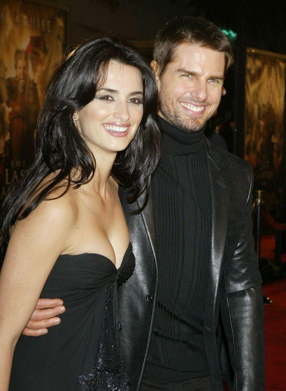 """<p>While they may have met on the set of <em>Vanilla Sky </em>when Cruise was married, the couple didn't make their relationship public until the August 2001 premiere of <em>Captain Corelli's Mandolin</em>. The two split in 2004. </p><p>""""I've never fallen in love with someone I'm working with. It's always been afterwards. If something becomes friendship, then maybe months later it becomes something else, but you can never know,"""" <a href=""""https://www.telegraph.co.uk/culture/film/starsandstories/3559549/Penelope-Cruz-I-dont-fall-in-love-when-Im-working.html"""" rel=""""nofollow noopener"""" target=""""_blank"""" data-ylk=""""slk:she said to The Telegraph"""" class=""""link rapid-noclick-resp"""">she said to <em>The Telegraph</em></a><em><a href=""""https://www.telegraph.co.uk/culture/film/starsandstories/3559549/Penelope-Cruz-I-dont-fall-in-love-when-Im-working.html"""" rel=""""nofollow noopener"""" target=""""_blank"""" data-ylk=""""slk:."""" class=""""link rapid-noclick-resp"""">.</a></em> """"It's always a mystery. You can't plan those things.""""</p>"""