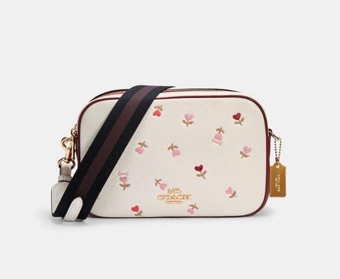 Jes Crossbody With Heart Floral Print. Image via Coach Outlet.