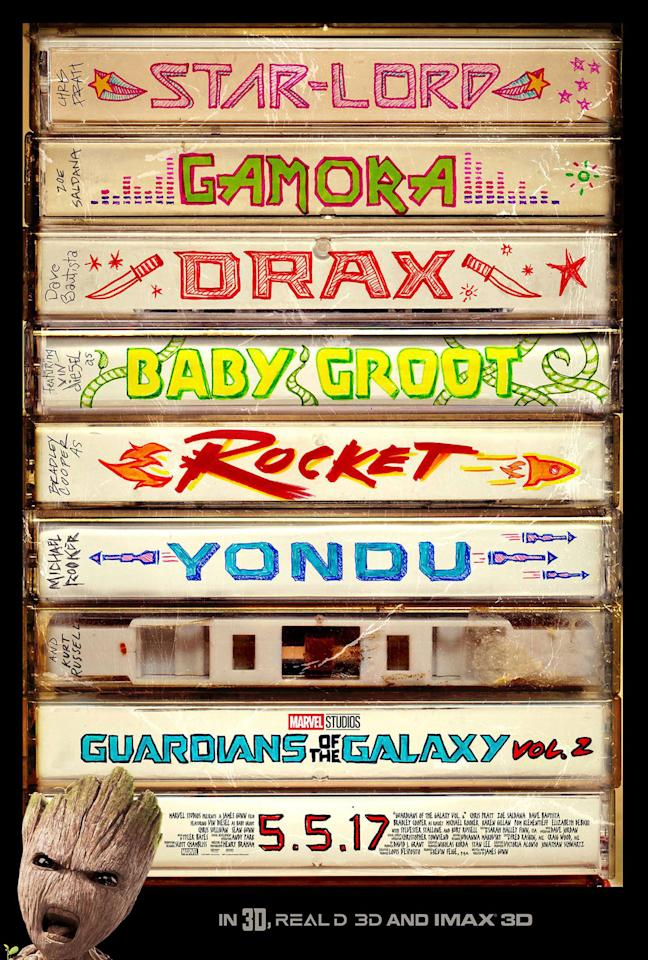 <p>Teaser posters are generally where you find designers' best work, before the demands of the studios – and the stars – rear their heads. So look past the garish one-sheet for the 'Guardians Of The Galaxy' sequel to this mixtape-inspired first look, with real hand-drawn pen-and-ink charm – it's a genius bit of design given how heavily the movie draws on music. </p>