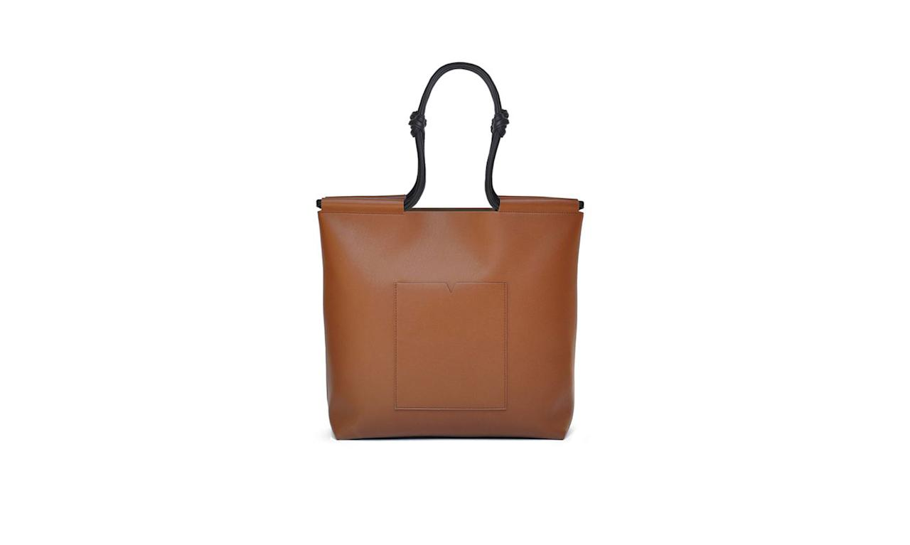 "<p>The Market Tote, $295, <a rel=""nofollow"" href=""https://vonholzhausen.com/collections/the-totes/products/the-market-tote_caramel"">vonholzhausen.com</a> </p>"