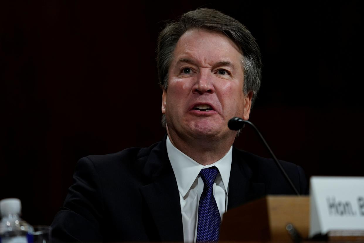 You can't even be honest about what a fart is, Mr. Kavanaugh. (Photo: POOL New / Reuters)