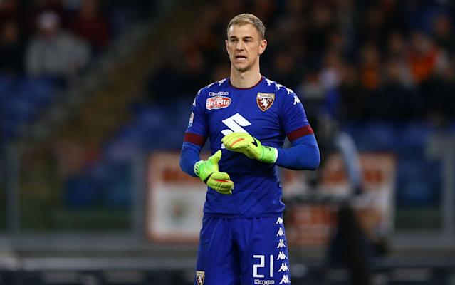 Joe Hart in action for Serie A side Torino - Rex Features