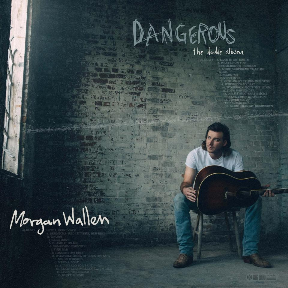 """This cover image released by Big Loud Records and Republic Records shows""""Dangerous: The Double Album,"""" by Morgan Wallen. (Big Loud Records and Republic Records via AP)"""