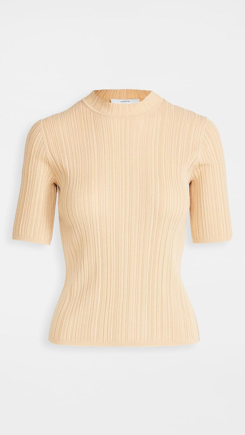 <p>This <span>Vince Variegated Pullover</span> ($225) is simple yet so chic.</p>