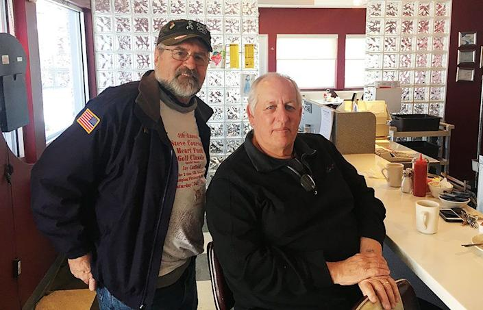 """Alex Nakoneczny, 67, a retired coal miner, and Greg McIlheny, 67, owner of Shelley's Pike Inn Diner, are staunch Democrats who planned to vote for Conor Lamb in the special election without knowing much about him. They both supported Bernie Sanders in the 2016 primary and believe he would have defeated Trump in the general election, though they were happy to vote for Hillary Clinton. <br /><br />Trump performed well in the area because young people supported him, according to Nakoneczny. """"They're tired of all these promises,""""he said. """"Everybody's promising 'em, nobody's ever doing nothing."""" <br /><br />Nakoneczny continued: """"As much as Trump sucks, he's telling you, 'I'm putting yinz first. I'm doing what you wanna do.' But he's not doing it the right way, ya know what I mean?"""""""