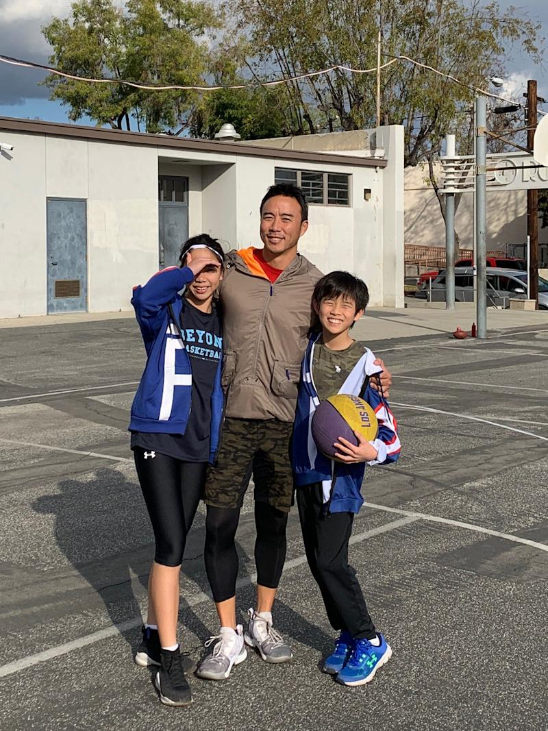 Allan Wu with his children, Sage and Jonas. (PHOTO: Allan Wu)