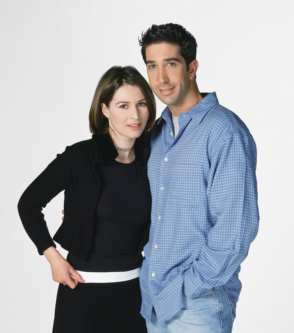 Helen Baxendale ended up playing as Emily Waltham, seen here with David Schwimmer as Ross Geller (Photo: NBC via Getty Images)