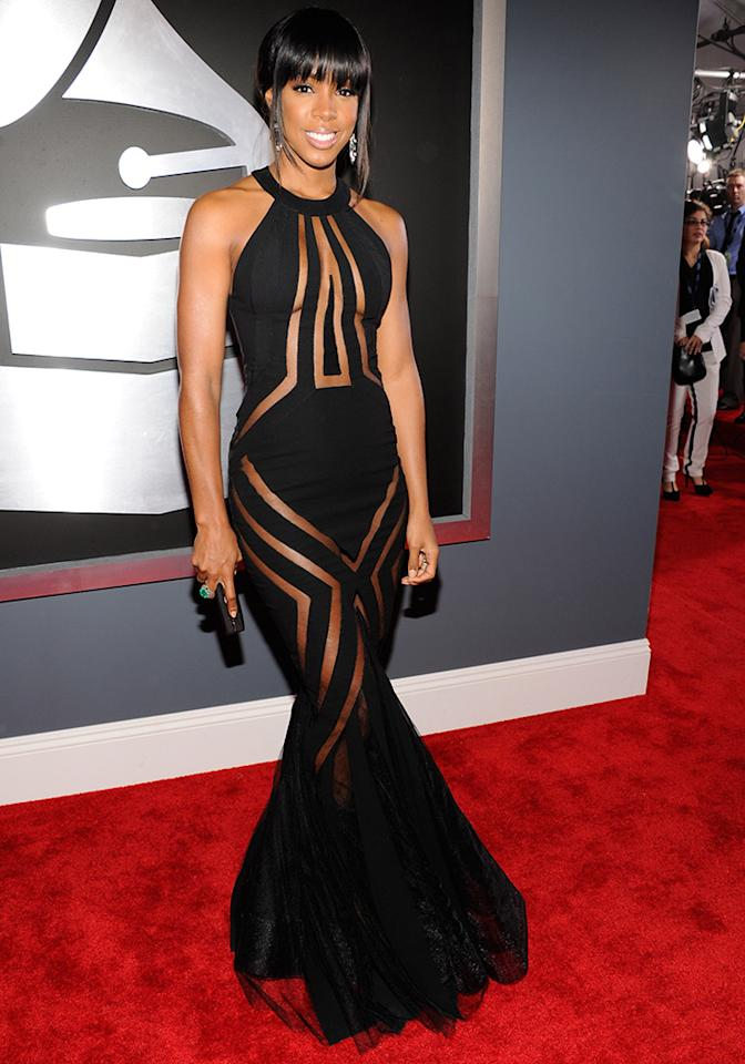 Kelly Rowland arrives at the 55th Annual Grammy Awards at the Staples Center in Los Angeles, CA on February 10, 2013.