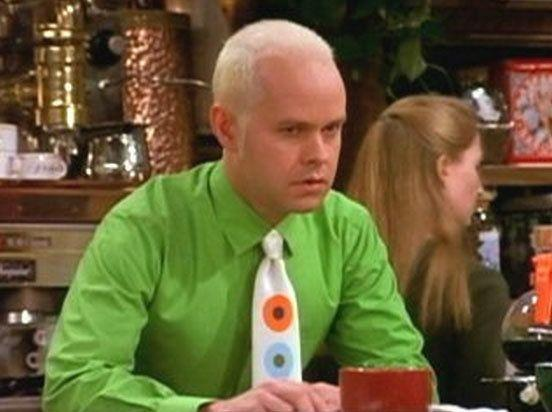 True, Gunther did feature in quite a lot of episodes, but how much do we know about the man behind the fluorescent hair? What does he do at night? Where does he live? What are his hopes? His dreams? His fears? Actually, it's probably best not to know...