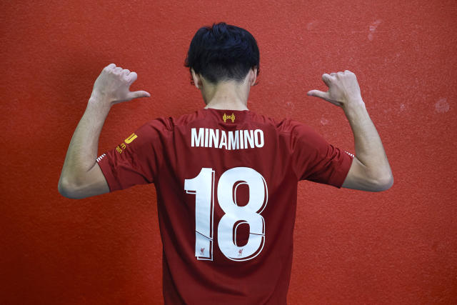 Minamino has signed for Liverpool from RB Salzburg. (Photo by Nick Taylor/Liverpool FC/Liverpool FC via Getty Images)