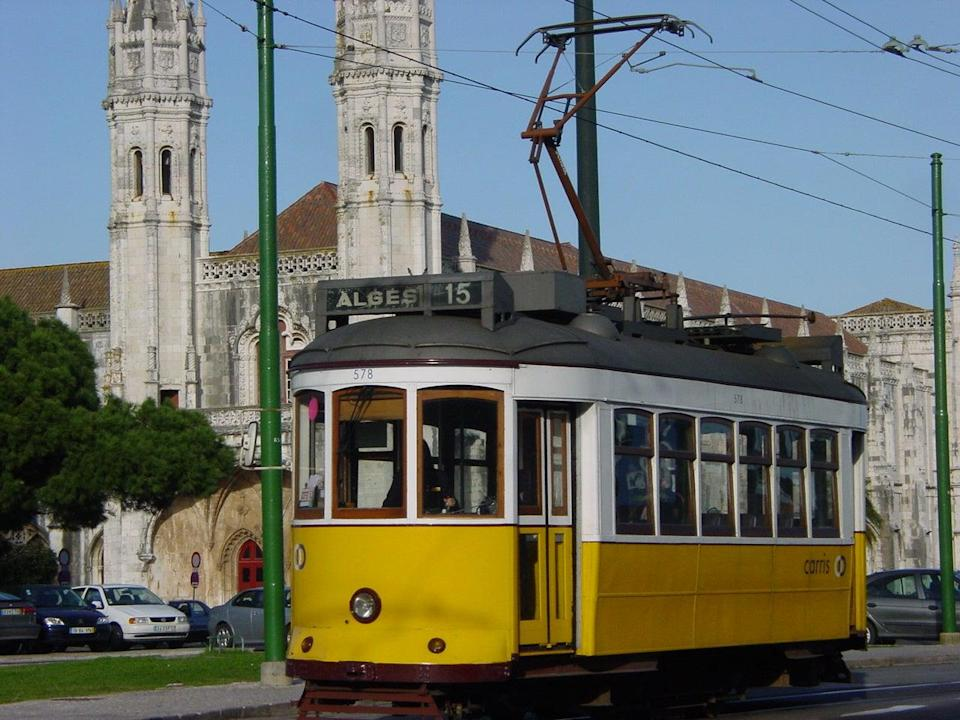 Welcome sight: Tram 28 in Lisbon (Simon Calder )