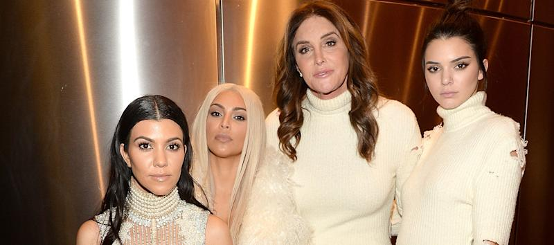 Kourtney and Kim Kardashian with Caitlyn and Kendall Jenner in 2016 (Credit: Getty Images)