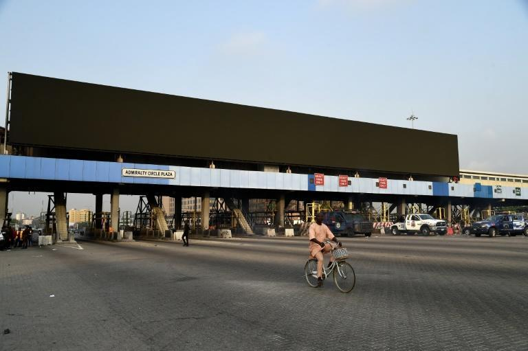 The tollgate has become the symbol of last year's protests against police brutality