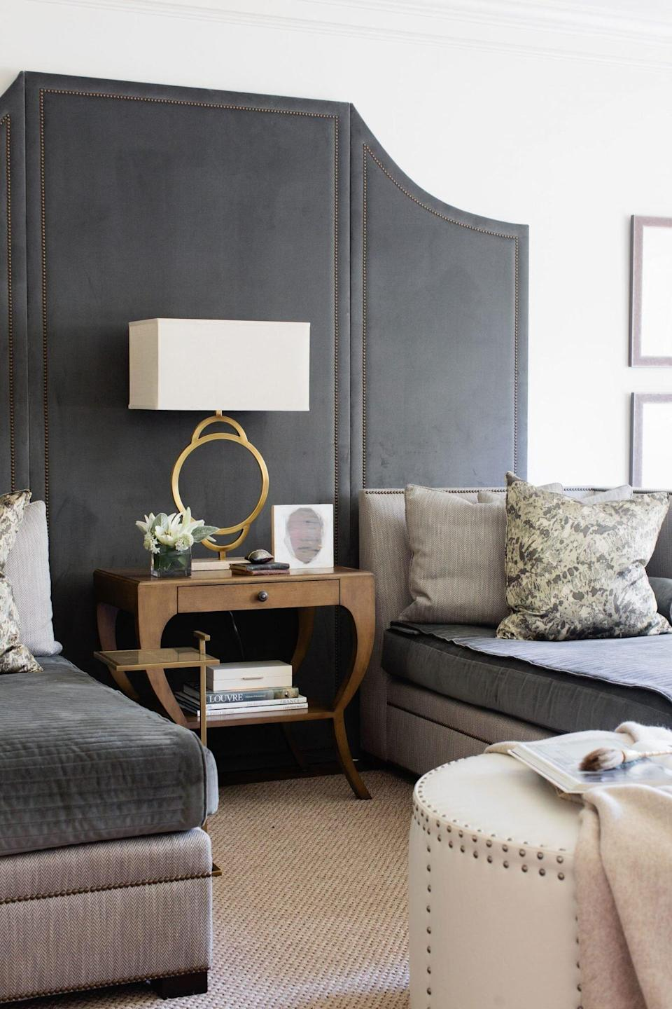 Living Room with Consistent Pattern Upholstery