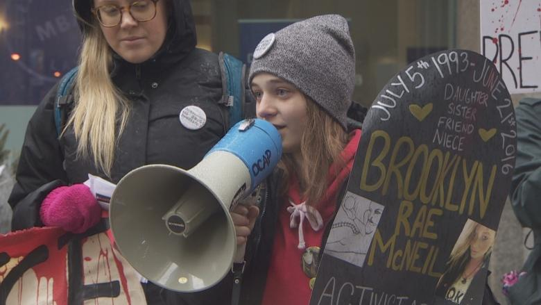 Advocates gather in downtown Toronto to demand decriminalization of drugs