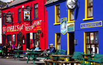 <p>Ireland secured joint tenth place with Japan. This photo shows two charming traditional pubs in County Cork. (Picture:REX) </p>
