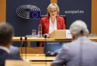 European Parliament Vice President McGuinness attends her hearing as the new EU financial services commissioner, in Brussels