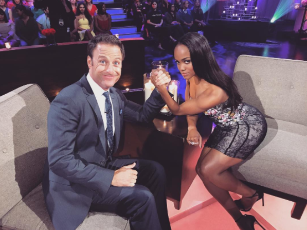 Chris Harrison and Rachel Lindsay at 'The Men Tell All.'