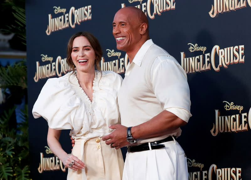 """FILE PHOTO: The premiere for the film """"Jungle Cruise"""" at Disneyland Park in Anaheim"""