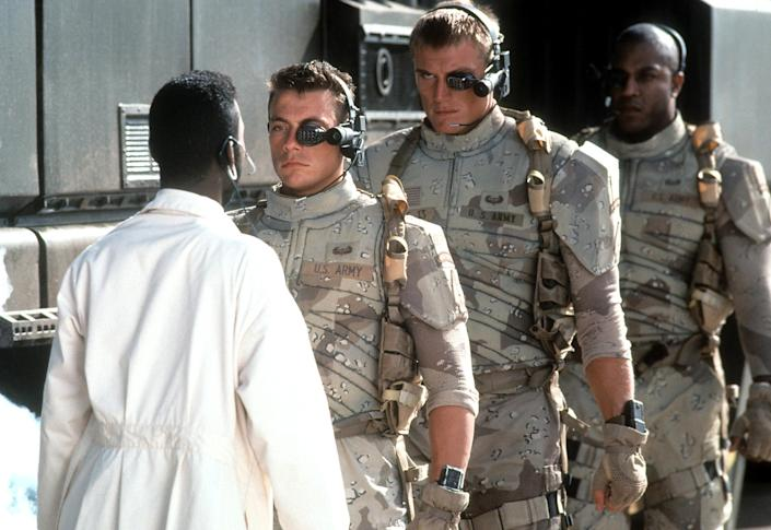 IMAGE: Jean-Claude Van Damme and Dolph Lundgren in 'Universal Soldier' (TriStar / Getty Images)
