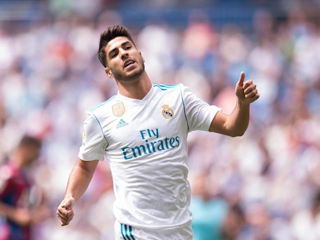 "Why is <a class=""link rapid-noclick-resp"" href=""/soccer/players/marco-asensio/"" data-ylk=""slk:Marco Asensio"">Marco Asensio</a> going to miss <a class=""link rapid-noclick-resp"" href=""/soccer/teams/real-madrid/"" data-ylk=""slk:Real Madrid"">Real Madrid</a>'s Champions League opener? You'd have to read it to believe it. (The Independent)"