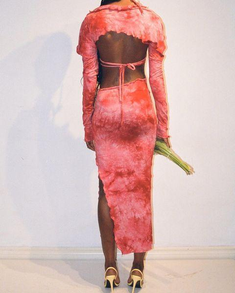 """<p>Who: Tyrell Harriott</p><p>What: 'Harriott launched his eponymous brand in 2018, balancing reality and fantasy in his womenswear collections. Characterised by sensuality and architecture, Tyrell creates slinky, feminine silhouettes to be easily transitional from day to night. Each garment is custom hand-made in Tyrell's downtown Toronto atelier from unique textiles and dead-stock materials.'</p><p><a class=""""link rapid-noclick-resp"""" href=""""https://tyrell.shop/"""" rel=""""nofollow noopener"""" target=""""_blank"""" data-ylk=""""slk:SHOP TYRELL NOW"""">SHOP TYRELL NOW</a></p><p><a href=""""https://www.instagram.com/p/B-5C7FhApGv/"""" rel=""""nofollow noopener"""" target=""""_blank"""" data-ylk=""""slk:See the original post on Instagram"""" class=""""link rapid-noclick-resp"""">See the original post on Instagram</a></p>"""