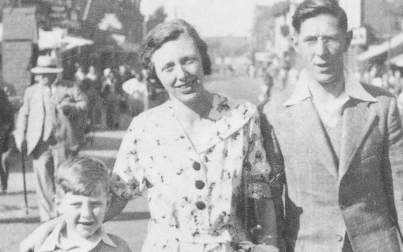 Roy Hattersley with his parents