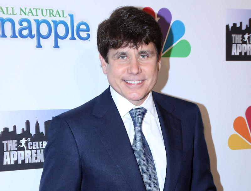 "Blagojevich, seen at a party for ""The Celebrity Apprentice"" in 2010, was sentenced to 14 years in prison for public corruption."