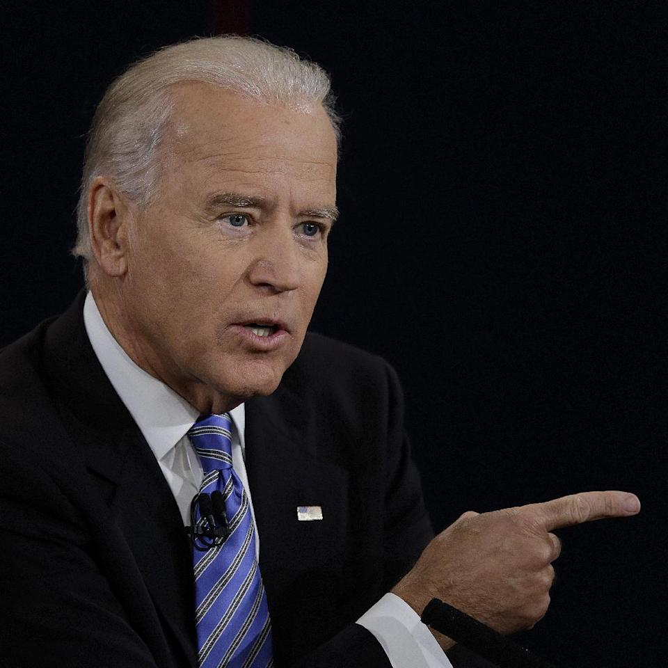 Vice President Joe Biden answers a question during the vice presidential debate at Centre College, Thursday, Oct. 11, 2012, in Danville, Ky. (AP Photo/Charlie Neibergall)